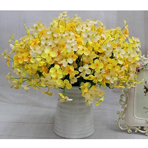 Silk Petals Baby Dresses - Nyalex 240Pcs Beautiful Artificial Silk Clover Campanula Heads Flower DIY Home Office Hotel Decorative Flowers VB044 P12 0.5 [Yellow]