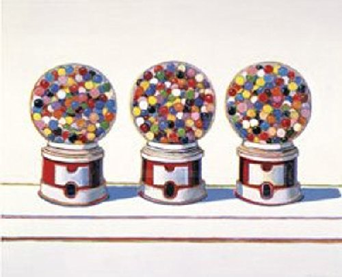 Candy Poster (Three Machines 1963 by Wayne Thiebaud Gum Gumball Candy Kid Children Poster (Choose Size of Print))