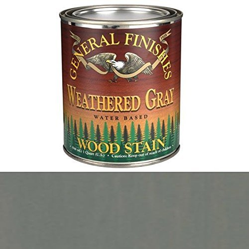 General Finishes QTWG Water Based Wood Stain, 1 Quart, Weathered Gray (General Finishes Gel)
