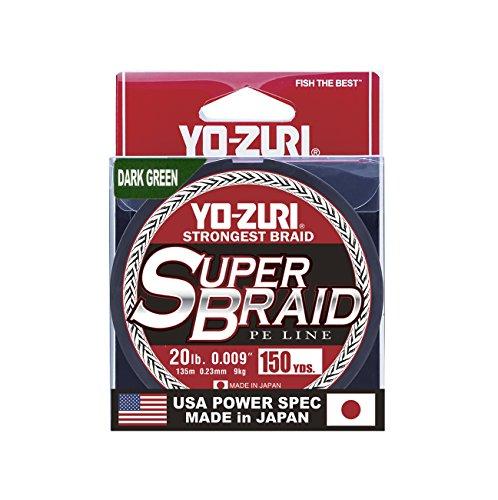 Yo-Zuri Superbraid 150 yd Floating Braid, Dark Green, 20 lb