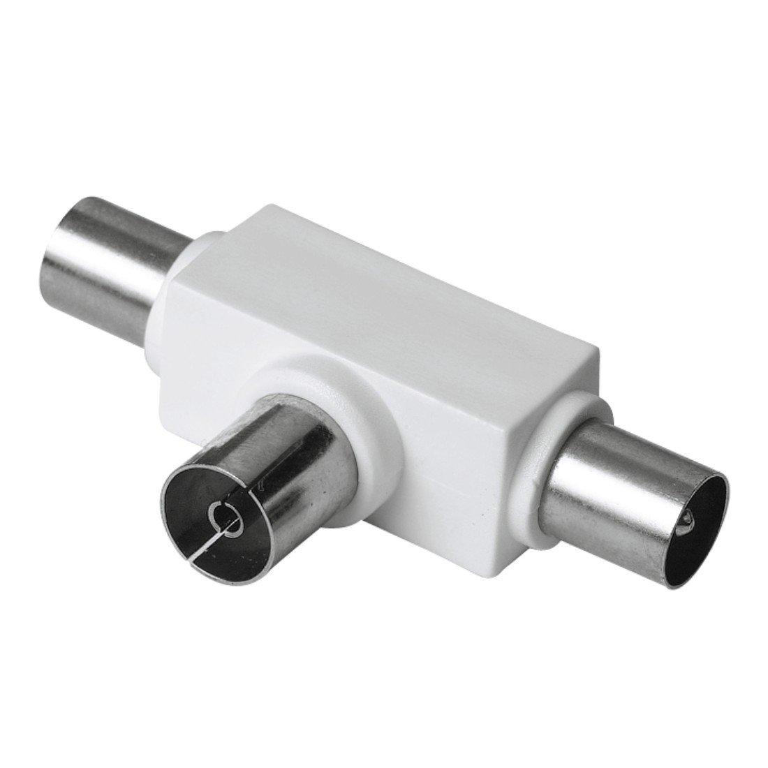 2 conectores Hama Adaptador de antena coaxial paquete abref/ácil de
