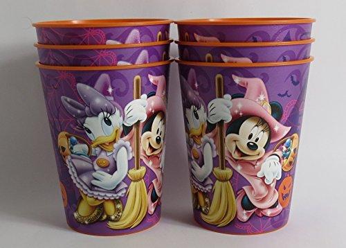 6 Halloween Disney Pixar Reusable Treat Favor Party Cups (Halloween Minnie)]()