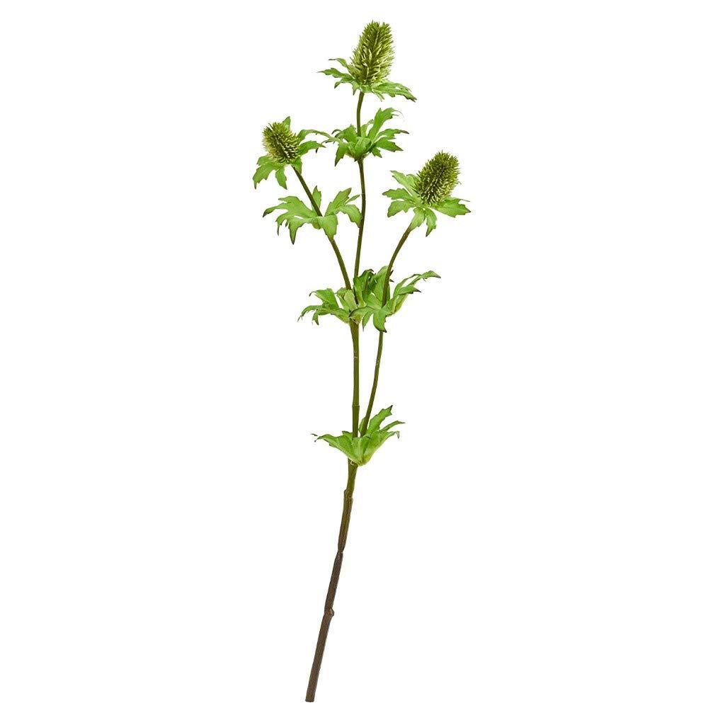 アザミ 造花 (12個セット) グリーン B07NSBBJLD