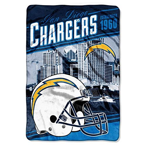 MI 1 Piece NFL Chargers Theme Oversized Blanket (62