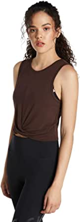 Rockwear Activewear Women's Oasis Twist Knot Crop Chocolate 4 from Size 4-18 for Singlets Tops