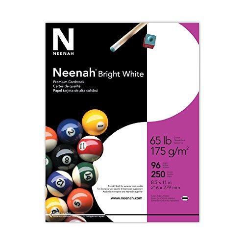 Neenah Premium Cardstock, 96 Brightness, 65 lb, Letter, Bright White, 250 Sheets per Pack (91904) (5, 250 Sheet) by Neenah (Image #1)