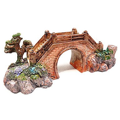 Quick shopping Gardening Style Bridge Design Resin Decoration Ornament for Aquarium