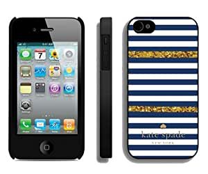Personalized Design With Kate Spade 98 Black iPhone 4 4S Protective Cover Case