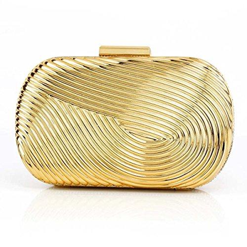 Cáscara Dura Bolsos De Las Señoras De Alto Grado Móvil Bolsa De Cosméticos De Teléfono Gold