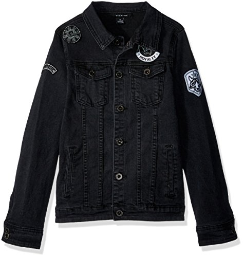 Sean John Boys Denim Patches Jacket, Black L (Sean John Jeans)