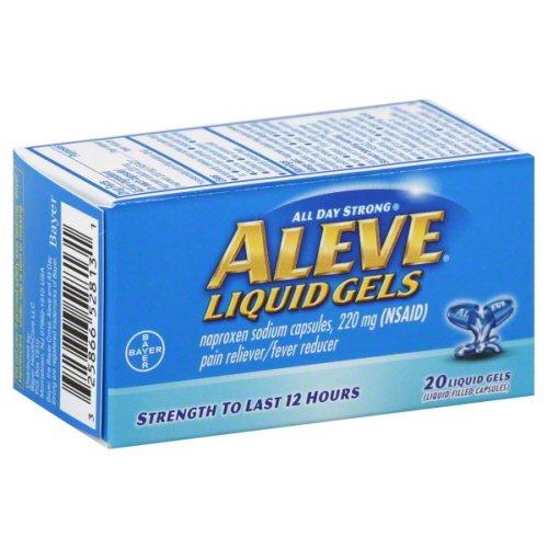 Aleve Aleve Liquid Gels, toute la journée Forte anti-douleur et antipyrétique Liquid Gels, 20 Liqui Gels 220 mg (Pack de 3)