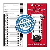 Lathem Weekly Tru-Align Time Cards, Single