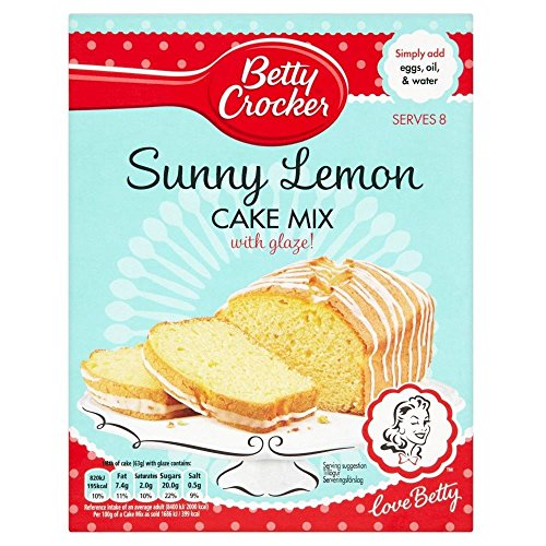 Betty Crocker Sunny Lemon Cake Mix with Glaze (295g) - Pack of 6