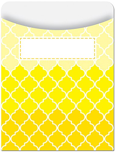 Charts Creative - Creative Teaching Press Library Pockets, Ombre Yellow Moroccan (6785)