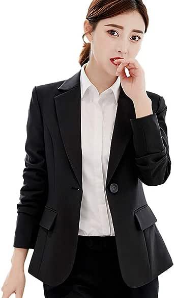 RNTOP/_Clothes Women Ladies Business Blazer,Autumn Lightweight Office Work Suit Solid Full Sleeve Button Suit Jacket Coat