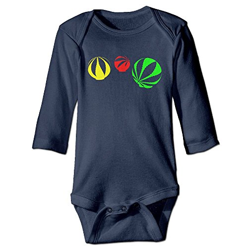 Price comparison product image PPF&YR6 Baby Boys Girls Clothes Weed Leaf Romper Playsuit with Long Sleeve