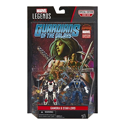 Marvel Legends Series Guardians of the Galaxy Gamora and Star-Lord Action Figures 3.75 Inches