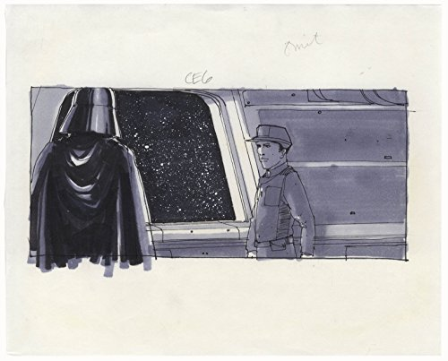 "Storyboard From the""Empire Strikes Back"" Depicting Darth Vader - From the Collection of Art Director Joe Johnston"