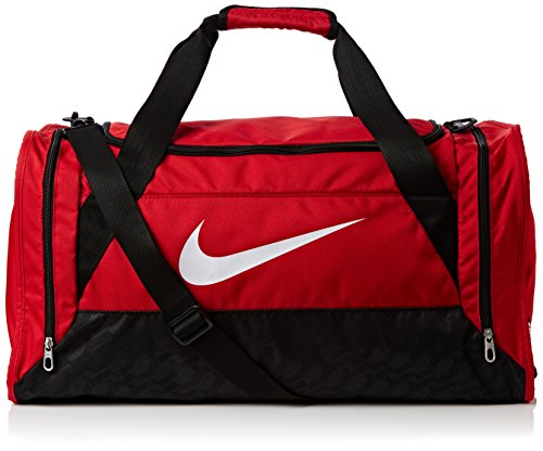 nike brasilia 6 duffel small gym red black white size. Black Bedroom Furniture Sets. Home Design Ideas