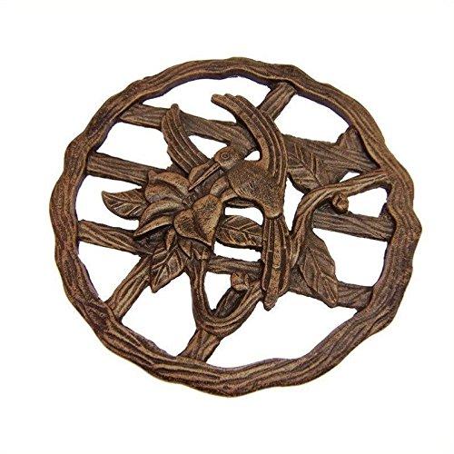 Oakland Living Hummingbird Decorative Stone, Antique Bronze