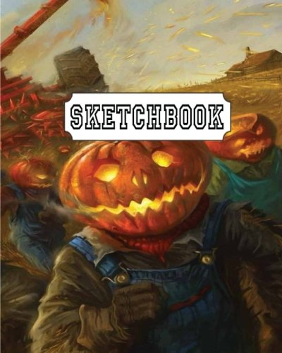 Sketchbook: Scary Halloween : 110 Pages of 8