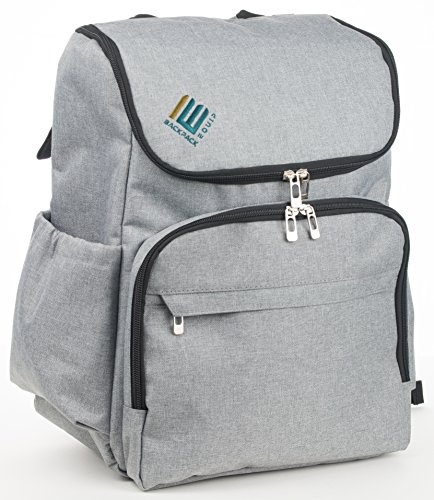 Weekender Bags for Women and Men - Backpack Style for Greater Travel Freedom, Grey, BE Backpack Equip