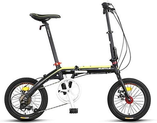 Paseo Bicicleta Bicicleta Plegable Amortiguador de Velocidad ...