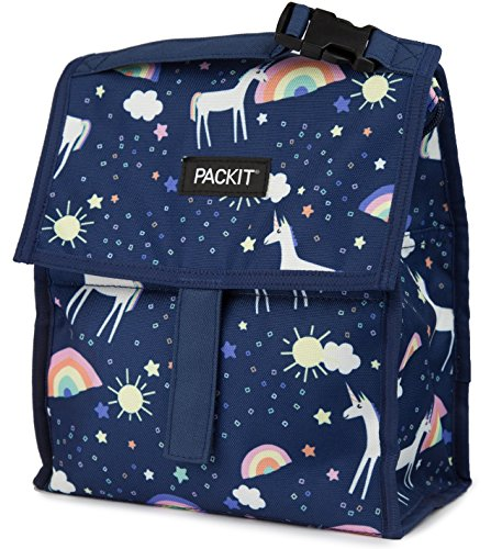 PackIt Freezable Lunch Bag with Zip Closure, Unicorn - Bag Lunch Box Yumbox