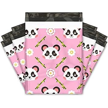 10x13 (100) Pink Panda Designer Poly Mailers Shipping Envelopes Premium Printed Bags