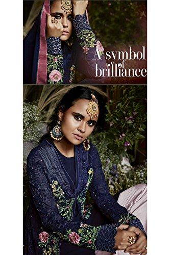 Women Salwar Traditonal Partywear Facioun Indian Da Designer Blue Navy Kameez Ethnic Ewq6xaz