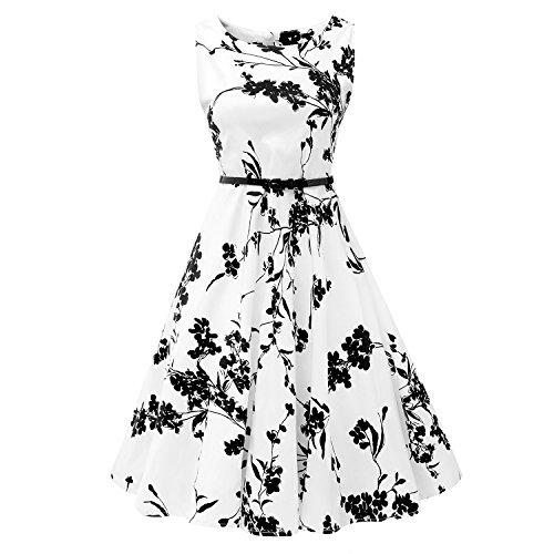Mutelamb Vintage Sleeveless Dresses Floral