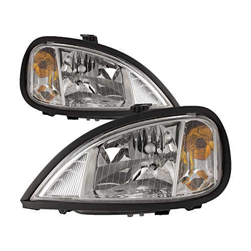 Freightliner Columbia Halogen Chrome Headlights Set