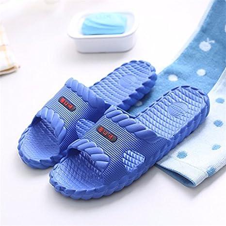 CWJDTXD Zapatillas de verano Inicio baño zapatillas baratas par de verano luz suave fondo interior antideslizante hotel zapatillas de baño hombres, 44, ...