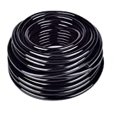 UCLEVER 1/4 inch Blank Irrigation Tubing Distribution Irrigation Drip Tube Hose for Home and Garden, 66Ft Roll Black
