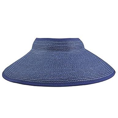Tama/ño grande mujer con Veroda Summer dise/ño de sol de ancho borde Chic plegable para sombrero visera de protecci/ón de bandera de playa roja