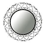 Ashton Sutton Wall Mirror, Round Wrought Iron