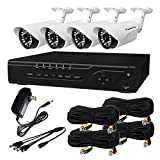 HQ-Cam HQ-TVI4047-NHD 4 Channel HD-TVI Megapixel Security DVR (Black/White)