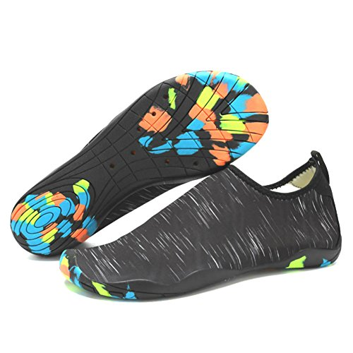 Lxso Men Women Water Shoes Multifunctional Quick-Dry Aqua Shoes Lightweight Swim Shoes With Drainage Hole (6.5US-women/5US-men=EU/FR 37, (Bigger Water)