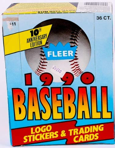 1990 Fleer Baseball Cards Box (36 packs/box, possible Sosa Rookie!) [Toy]