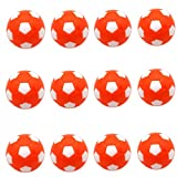 SUNREEK Table Soccer Foosballs Replacements Mini Black and White Soccer Balls for Tornado, Dynamo or Shelti Tables - Set of 12