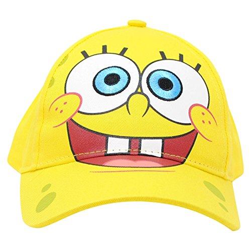 Nickelodeon Spongebob SqaurePants Yellow Adjustable Baseball Cap Unisex Toddlers, Ages 2-5 -