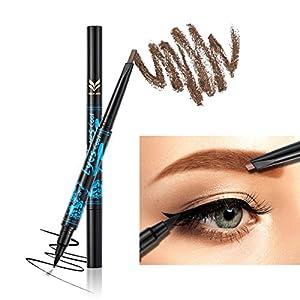 Ladygo 2 in 1 Automatic Eyebrow Pencil with Eyeliner Long-lasting Waterproof Makeup Cosmetic Tool, Brown-3#