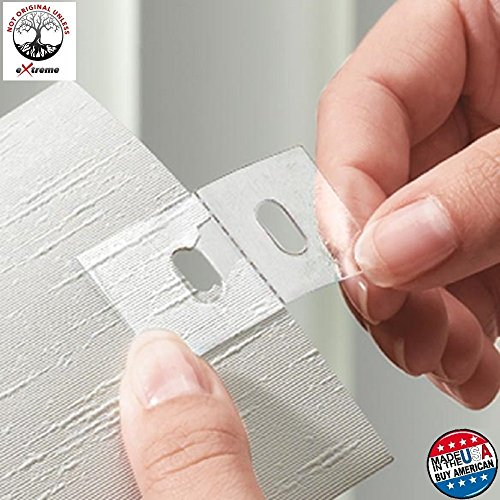 Extreme Vertical Blind Repair Tabs For Sliding Glass Patio Door Or Windows. Just Clean, Peel And Stick. The Pvc Vane Savers Kit Repairs All Slats, Blinds With No Replacement Parts, Clips Or Slat 10 pk