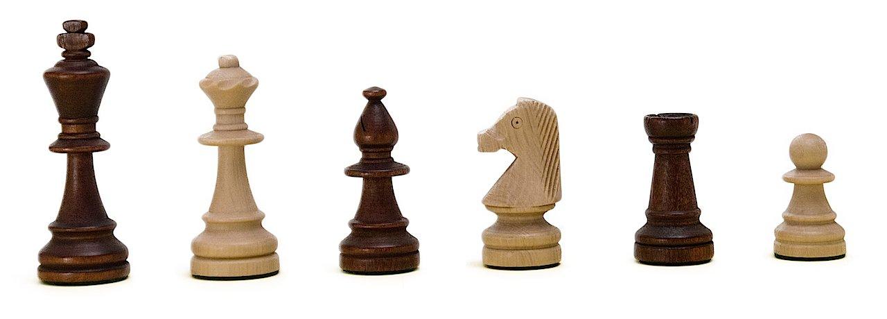 ROMBOL ROMBOL ROMBOL Schachfiguren 'Richard' (KH 96), Staunton Design, Holz (Ahorn), gewichtet, im Polybeutelbeutel 68217a