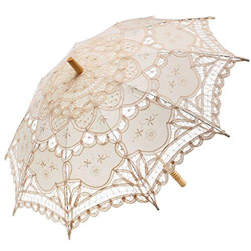 FAYBOX Wedding Embroidery Parasol Umbrella product image
