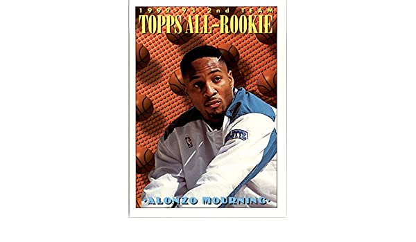 1993 94 Topps 177 Alonzo Mourning Art Nm At Amazons