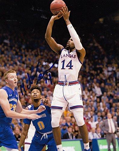 Signed Malik Newman Photo - KANSAS JAYHAWKS Basketball NBA 8X10 W COA #5 - Autographed College Photos