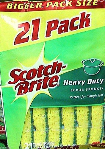 8 Wholesale Lots Scotch-Brite Heavy Duty Sponges, 168 Sponges Total