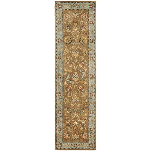 Bergama Runner Rug - Safavieh Bergama Collection BRG161A Handmade Brown and Blue Premium Wool Runner (2'3