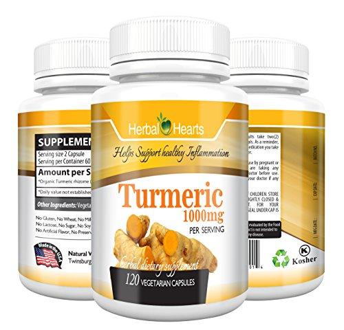 Turmeric / Tumeric Curcumin Capsule 1000mg per Serving - Org